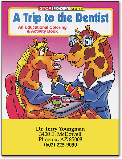 Personalized Dental Coloring Books Keep Kids Happy ...