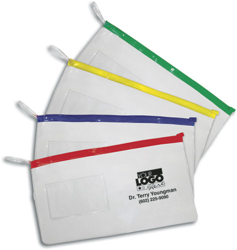 Frosted plastic supply bags smartpractice veterinary large pouches with business card slot reheart Images