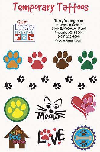 Personalized Temporary Pet Tattoos | SmartPractice Veterinary