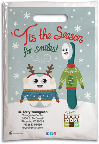 Ugly Sweater Smiles Plastic Supply Bag