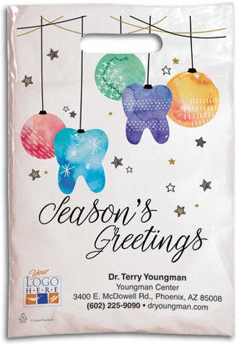Ornaments and Tinsel Plastic Supply Bag