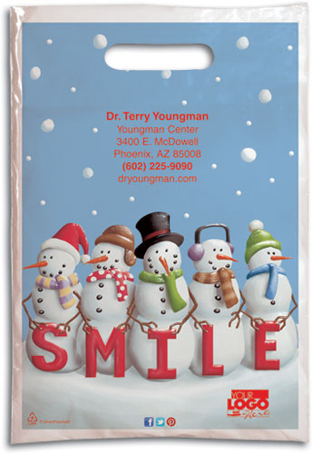 Smile Snowman Supply Bag