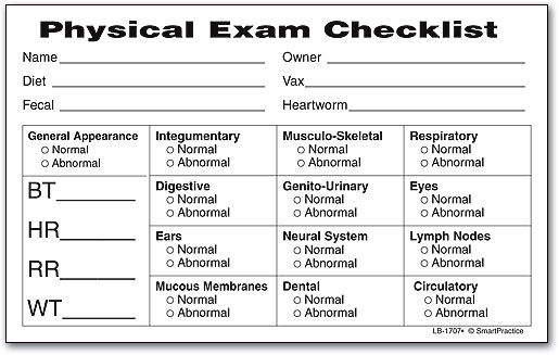 Exam Checklist Label By SmartPractice