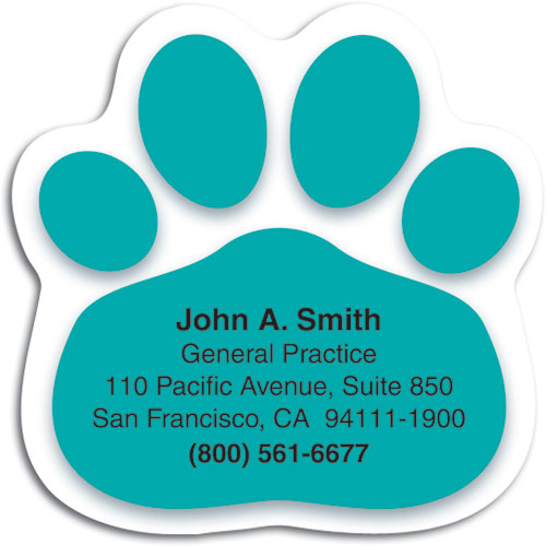 Veterinary magnets smartpractice veterinary pawteal die cut magnet reheart Choice Image