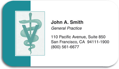 Veterinary business card restix stick anywhere smartpractice teal vet symbol restix sticker business card colourmoves