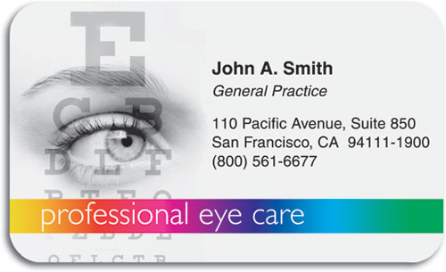 Personalized restix perfect eye care business card smartpractice professional eye care restix sticker business card by sharper cards reheart Gallery