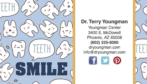 a toothy year restix business card by