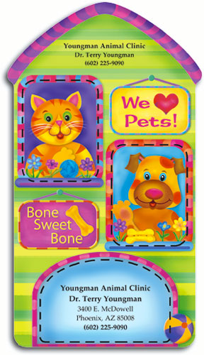 Die cut magnets demand attention smartpractice veterinary house shaped die cut magnet reheart Image collections