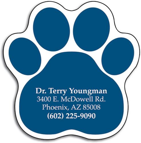 Heart die cut magnet smartpractice veterinary pawprint die cut restix reheart Gallery