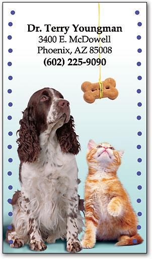 Dog Cat With Bone Restix Sticker Business Card