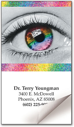 Rainbow iris restixtrade sticker business card smartpractice eye rainbow iris restix sticker business card colourmoves