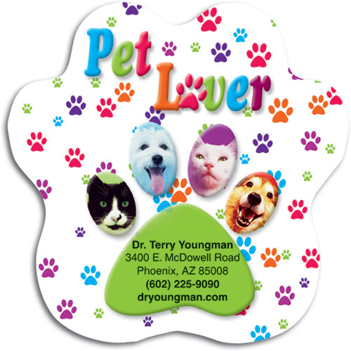 Your new business card restix stick to everything smartpractice 7 x 7 custom paw restix bumper sticker by smartpractice reheart Choice Image
