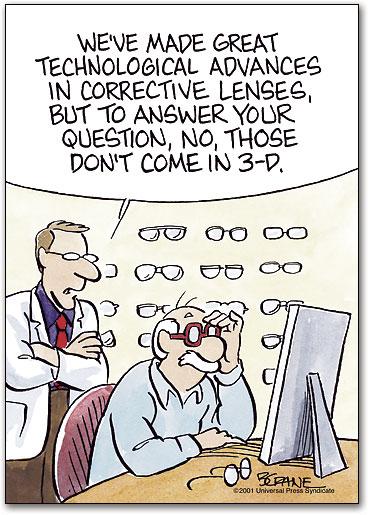 Corrective Lenses Deluxe Standard Postcard | SmartPractice Eye Care
