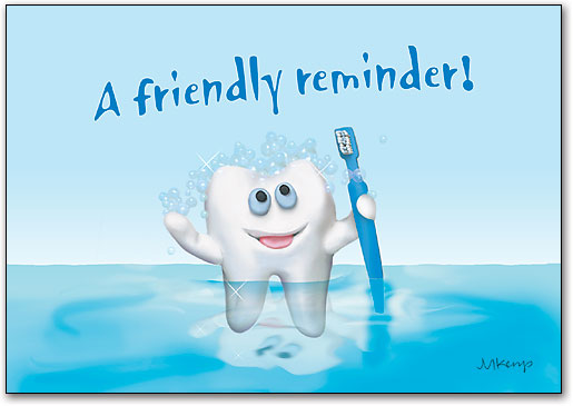 Tooth Friendly Reminder 4 Up Laser Card Smartpractice