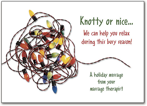 Massage Therapy Seasonal Postcards and Folding Cards | SmartPractice ...