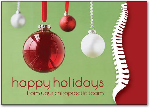 [+] zoom - Christmas And Holiday-themed Postcards SmartPractice Chiropractic