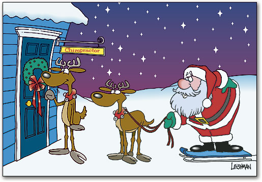 Bad Back Chiropractic Deluxe Holiday Folding Card Smartpractice Chiropractic