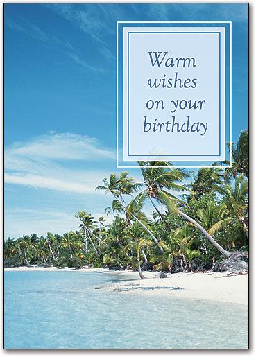 Warm Wishes Birthday Postcard By SmartPractice