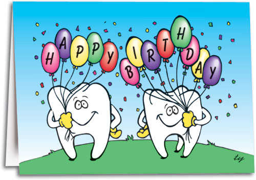 Birthday Teeth Folding Card