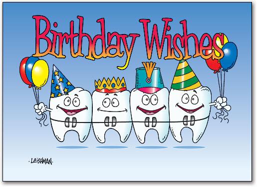 Ortho Four Birthday Teeth 4 Up Laser Card Smartpractice