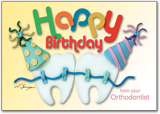 Ortho Happy Birthday 4 Up Laser Card By Clay