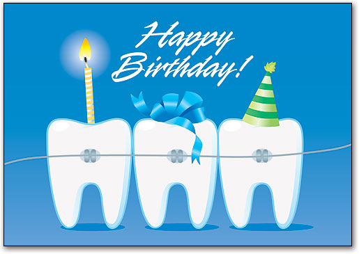 Orthodontic Birthday Cards