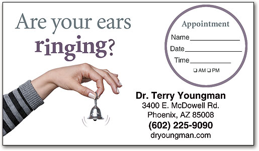Hearing care appointment business cards smartpractice eye care sticker appointment card colourmoves