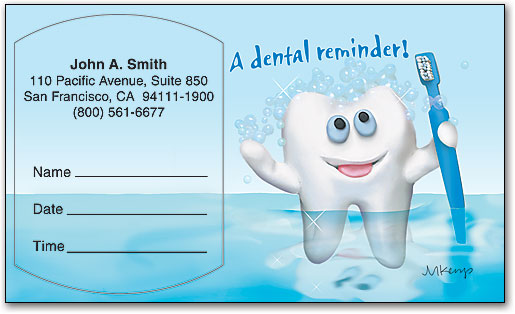 Tooth - Friendly Reminder Appointment Card | SmartPractice Dental