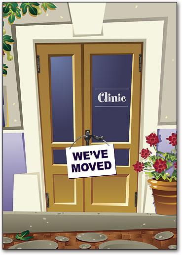 Weu0027ve Moved Door Clinic Postcard & Weu0027ve Moved Door Clinic Postcard | SmartPractice Eye Care