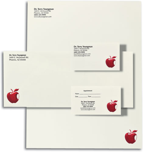 Personalized dental stationery sets with business cards apple professional touch stationery set reheart Image collections