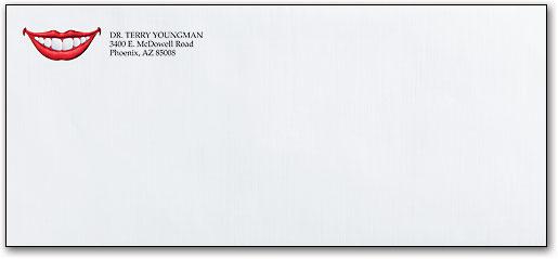 dental designs on personalized business envelopes smartpractice dental