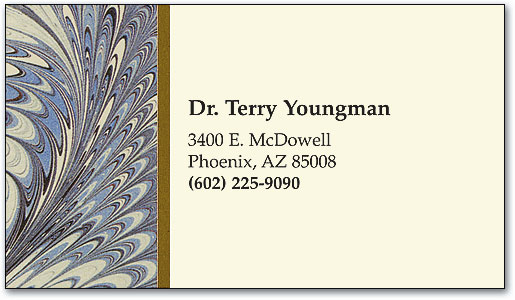 Blue French Marble Appointment Business Card