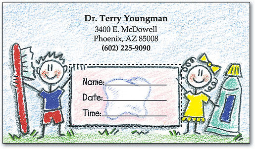 Pediatric Dental Appointment Cards   SmartPractice Dental
