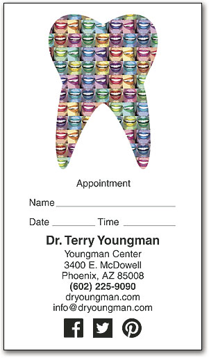 Tooth Smiles Appointment Business Card Smartpractice Dental