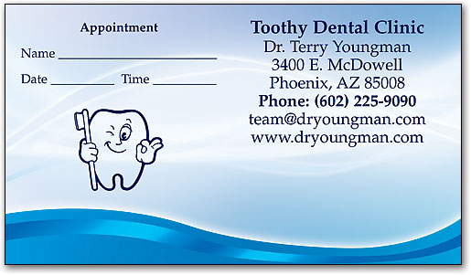 Blue Waves Appointment/Business Card | SmartPractice Dental