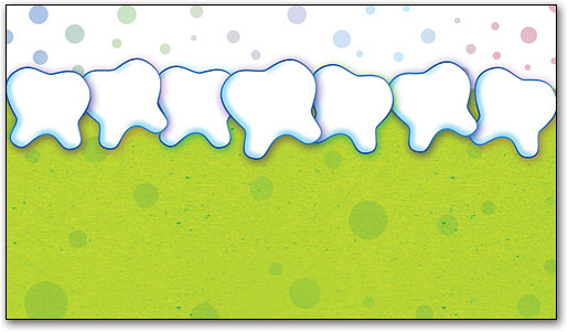 Tooth Border With Bubbles Appointment Business Card