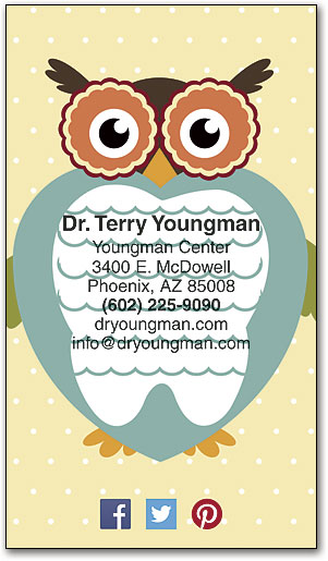 Molar owl appointment business card smartpractice dental molar owl appointment business card colourmoves