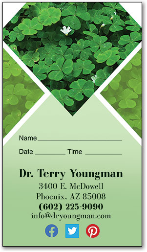 Spring Clover Appointment Business Card