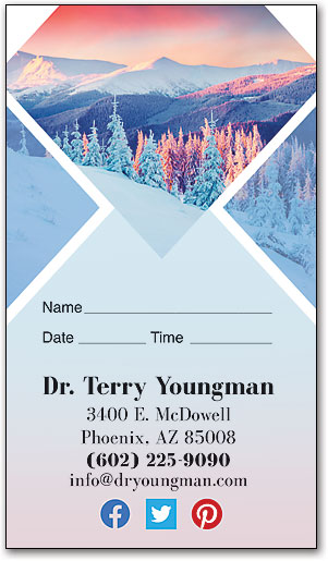 Winter Sunset Appointment Business Card