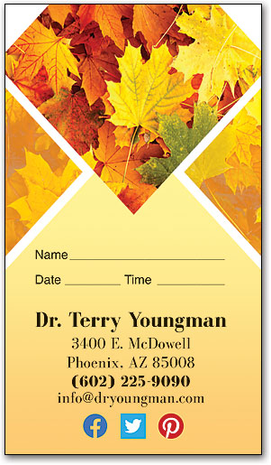 Fall Maple Appointment Business Card