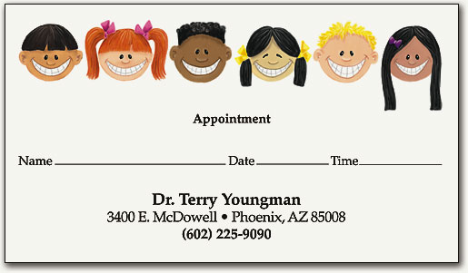 Pediatric Dental Appointment Cards | SmartPractice Dental