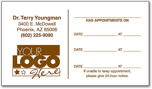 One-color Appointment Business Card