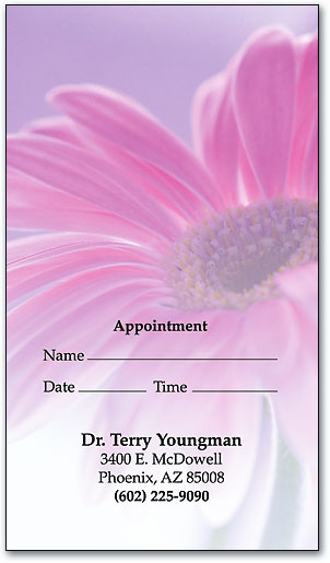 Purple Daisy Appointment Business Card