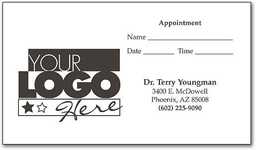 Great Impressions™ One-color Appointment and Business Cards