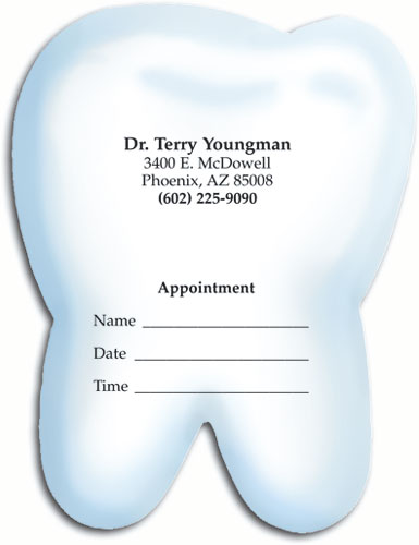 Die cut dental appointment cards demand attention smartpractice dental bold tooth die cut appointment card colourmoves