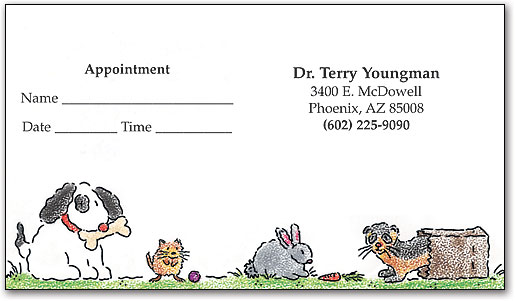 Veterinary business cards smartpractice veterinary storybook pets appointment business card by smartpractice reheart Image collections