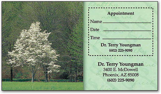 Beauty in Nature Sticker Appointment Card
