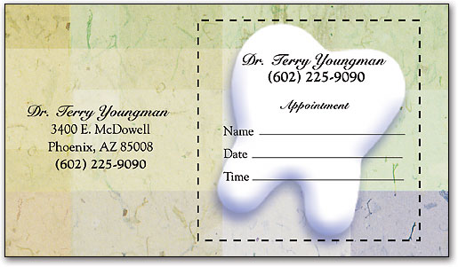Peel-Off Sticker Dental Appointment Cards | Smartpractice Dental