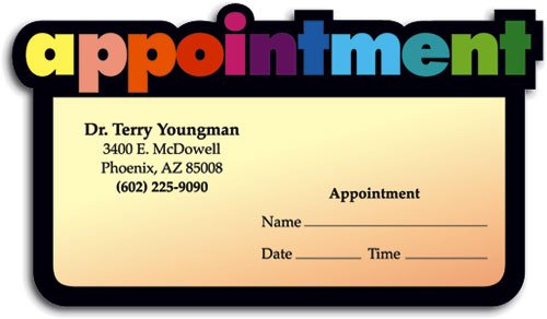 Rainbow Appointment Business Card