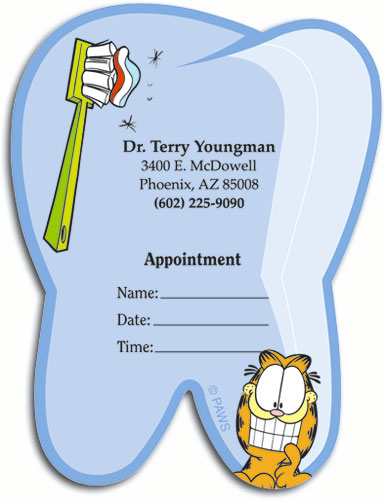 Die Cut Dental Appointment Cards Demand Attention | SmartPractice ...